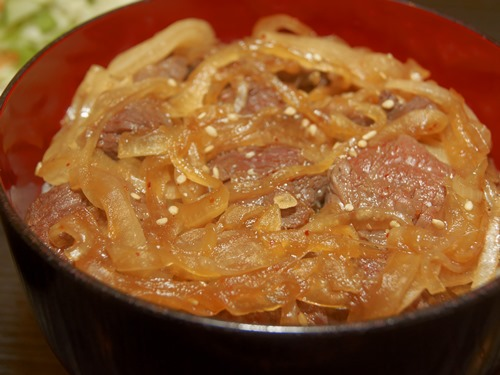 サラン7ハラミ丼アップ