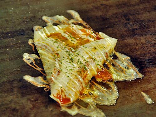 広島お好み焼き優8ガーリックチーズ焼